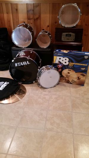 5 pc. Tama drum set & B8 Pro cymbals & storage bags for Sale in Fort Washington, MD