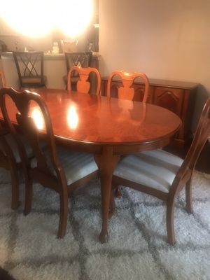 Dining room table 6 chairs and server. for Sale in Washington, PA