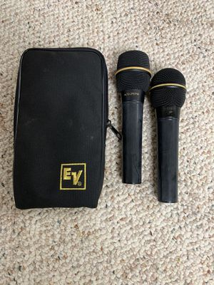 Two electro voice microphones. for Sale in Kalamazoo, MI