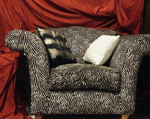 Exotic tiger striped j oversized chair for Sale in San Diego, CA
