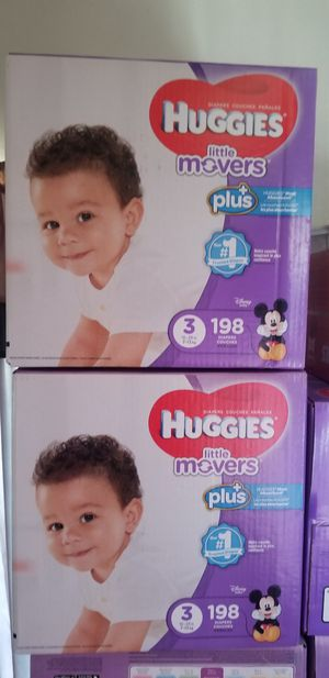 Huggies little movers size 3 198 daipers $42 each box firm price for Sale in Los Angeles, CA