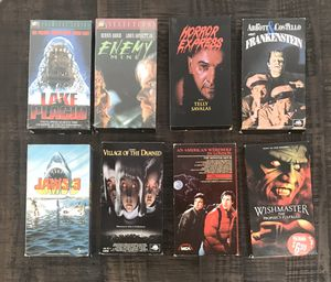 Vintage Horror VHS Movies $3 each or $20 for all for Sale in Port St. Lucie, FL