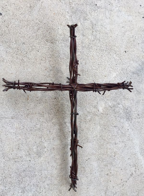 Cross ——made from barbed wire