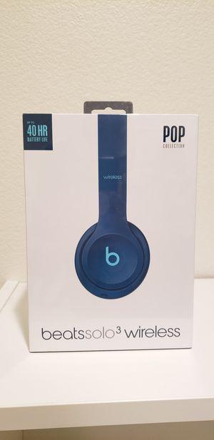 Apple Beats Solo 3 Wireless by Dr.Dre (Pop Blue) for Sale in San Dimas, CA