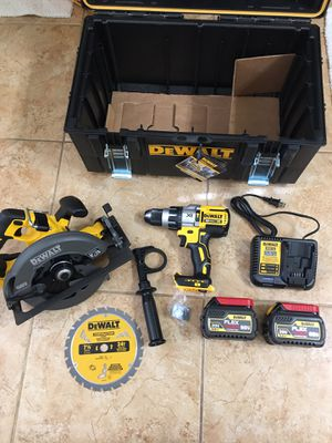 DEWALT FLEXVOLT 60-Volt MAX Lithium-Ion Cordless Brushless 7-1/4 in. Circular Saw with 1/2 hammer drill dcd996 + 2 Flexvolt 6.0 batteries + charger a for Sale in Phoenix, AZ