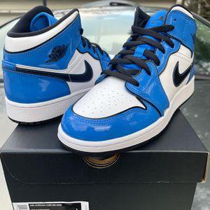 """Air Jordan 1 Mid """"Signal Blue"""" for Sale in Woodstock, GA"""