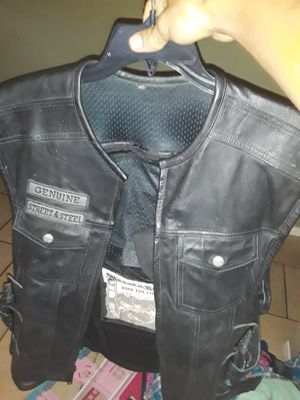Leather motorcycle vest for Sale in Las Vegas, NV