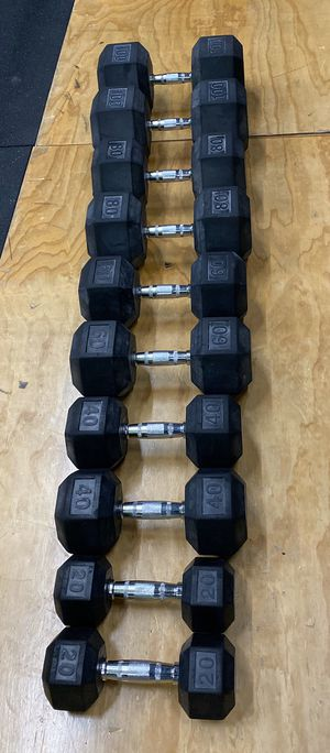 Dumbbells Set ( Pair of 20/40/60/80/100 ) for Sale in Seattle, WA