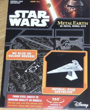 New Disney store Starwars Metal Earth 3D Metal Model kit, Imperial Star Destroyer for ages 14+ (no glue or solder needed) for Sale in Pinellas Park, FL