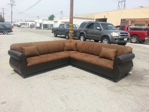 NEW 9X9FT CHOCOLATE MICROFIBER COMBO SECTIONAL COUCHES for Sale in Perris, CA