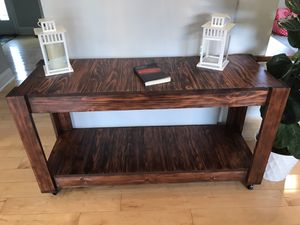 TV Stand/ Console Table on wheels for Sale in Ashburn, VA