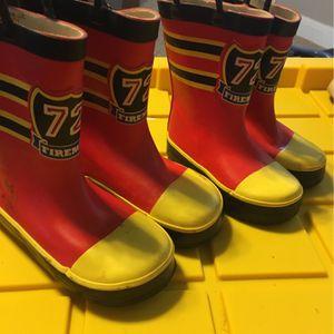 Kids Fireman Rain Boots for Sale in San Antonio, TX