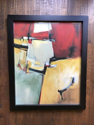 "Art framed in black. 36"" x 44 1/4"" x 1 7/8"" deep frame for Sale in Dallas, TX"