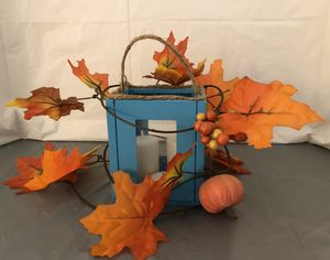 Teal Farmhouse Style Lantern Decor for Sale in South Jordan, UT