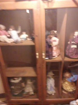 Antique doll collection and China cabinet for Sale in Union, SC