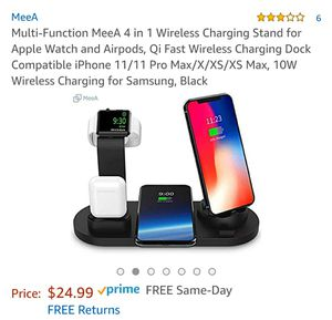 Multi-Function MeeA 4 in 1 Wireless Charging Stand for Apple Watch and Airpods, Qi Fast Wireless Charging Dock for Sale in Chino, CA