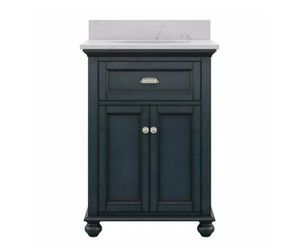 H.D.Coll. Lamport 25 in. x 22 in. Bath Vanity in Harbor Blue with Engineered Stone Vanity Top for Sale in Dallas,  TX