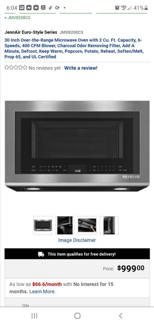 JENN-AIR MICROWAVE HOOD COMBINATION for Sale in Fort Washington, MD