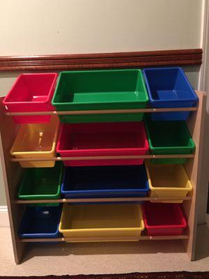 Kids toy storage organizer with 12 bins for Sale in Woodbridge, VA