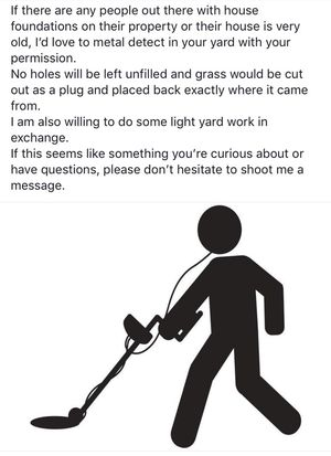 Metal detecting permission for Sale in Woodbine, NJ