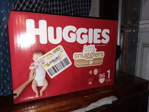 Huggies size 1 96 count for Sale in DEVORE HGHTS, CA