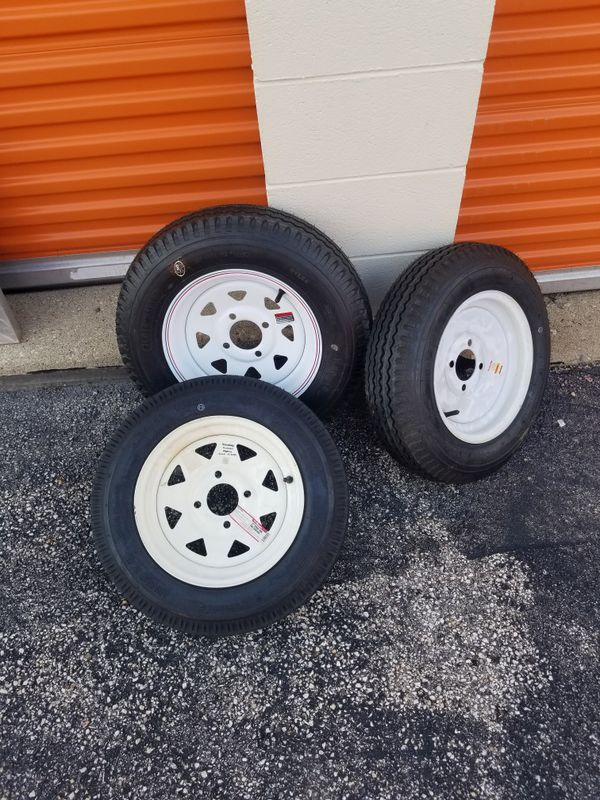 """new 12"""" rim&tires for a trailer"""