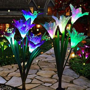 Solar color changing night flowers for Sale in Waukegan, IL