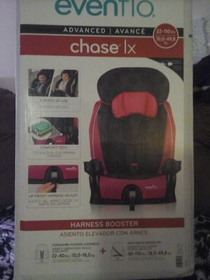 evenflo/car seat/high back booster seat with 5 point harness for Sale in Lake Charles, LA