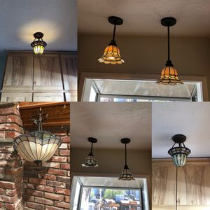 tained Glass Pendant Ceiling Lights 💡set of 4 for Sale in Lake View Terrace, CA