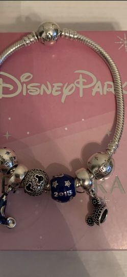 Disney Parks Exclusive Pandora Bracelet + 6 Charms for Sale in Aurora,  OR