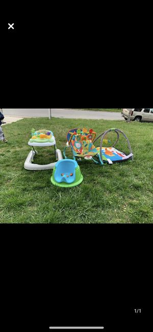Baby booster seat, walker, playmat and rocker for Sale in Upper Marlboro, MD