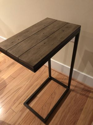 """Wood TV tray - wood & Metal L-Shaped End Table, 16"""" - 2 trays for Sale in Arlington, VA"""