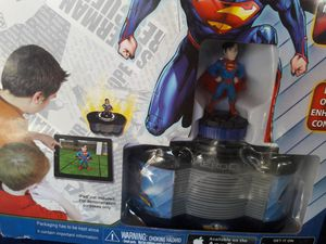 Tabapp game with superman heroe figure for Sale in Tempe, AZ