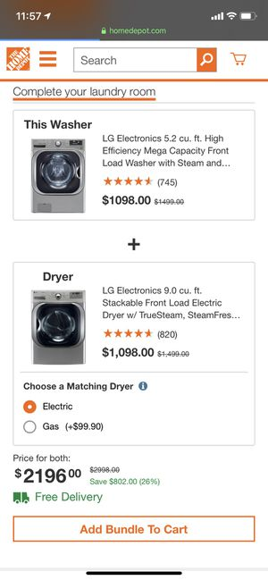"29"" NEW LG JUMBO WASHER AND DRYER SET for Sale in Alexandria, VA"