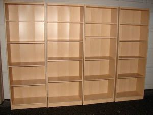 4 Bookshelves Large Bank of Bookcases 4 Adjustable Shelf Display Books for Sale in Mill Creek, WA