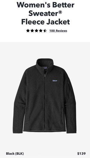 Patagonia women's better sweater full zip, black, medium for Sale in Cambridge, MA
