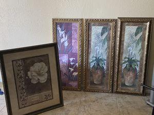 4 high quality framed photos for Sale in Phoenix, AZ