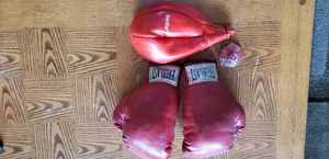Speed bag and boxing gloves for Sale in Moses Lake, WA