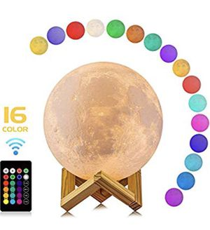Moon Lamp, 16 Colors LED 3d Print for Sale in New York, NY