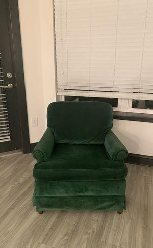 Green corduroy sofa chair for Sale in Atlanta, GA