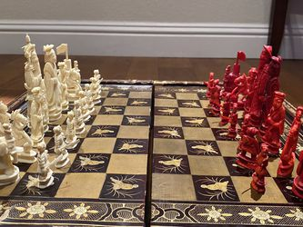 Vintage Chinese Bone Chess Set for Sale in Walnut Creek,  CA