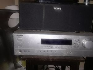 Onkyo surround with 6 sony speakers for Sale in Aurora, CO