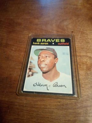 Vintage Hank Aaron Baseball Cards for Sale in Peoria, IL