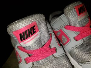 Hot pink and grey Nike size 5c baby/toddler shoes for Sale in Peoria, IL
