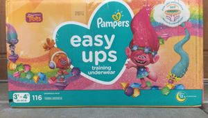 Pampers Easy Ups Size 3T-4T !Trolls Training Underwear ! for Sale in Chino Hills, CA
