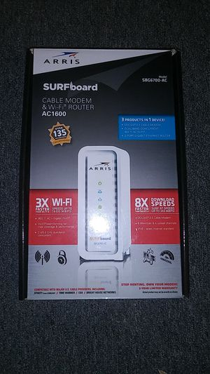 NEW (never used)Cable modem &wi_fi ROUTER for Sale in Louisville, KY