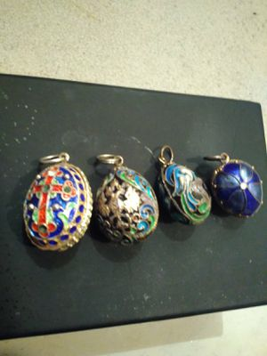 1900's Russian Faberge Egg Charms 14k and .925 (misc gemstones ) for Sale in Hampton, VA