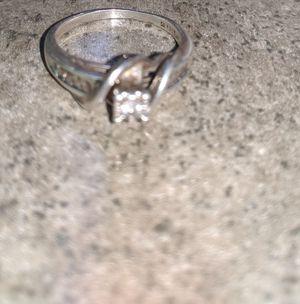 Silver diamond ring for Sale in Churubusco, IN