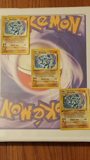 👣Pokemon cards- 3 RARE BASE HOLOS 💥 MACHAMP # 9/102👣 for Sale in Falls Church, VA
