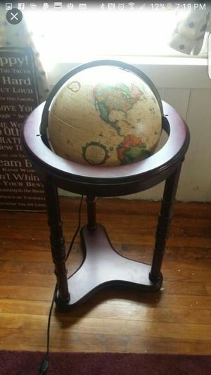 Replogle illuminated globe with cherry wood finish for Sale in New Bedford, MA